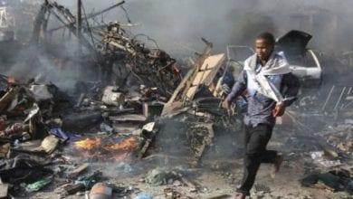 صورة مصرع 19 شخصاً في الصومال جراء انفجار لغم في حافلة