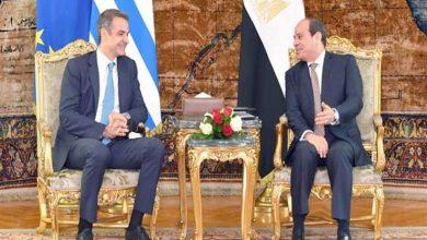 صورة مصر واليونان يجددان رفضهما للتدخل الخارجي في ليبيا