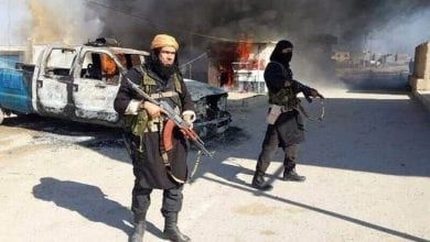 Photo of ISIS terrorist gangs attacked police station eastern Iraq