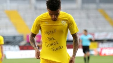 Photo of Sancho hits hat-trick, joins 'Justice for George Floyd' protest
