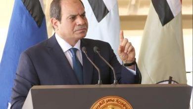 صورة السيسي يعلن شرعية التدخل المصري المباشر في ليبيا