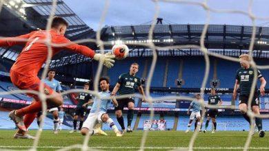 صورة مانشستر سيتي يحقق فوز ساحق على بيرنلي في الدوري الإنجليزي الممتاز