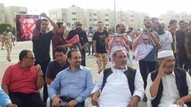 صورة مظاهرات في مدينة سرت الليبية دعماً لمبادرة القاهرة وتنديداً بتدخل النظام التركي