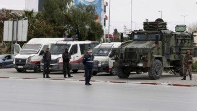 صورة صدامات بين الشرطة التونسية ومحتجين من مدينة تطاوين