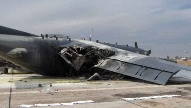 Photo of Air Force C-130H Smacks Into Wall, Bursts Into Flames After Overshooting Runway In Iraq