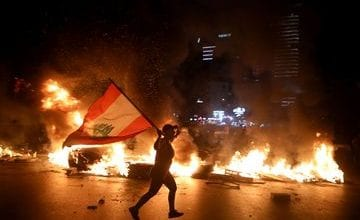 Photo of Lebanon's Currency Plunges, and Protesters Surge Into Streets