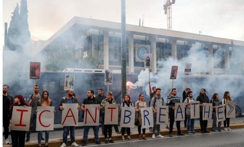 Photo of United States Embassy in Athens firebombed in protest over the death of George Floyd