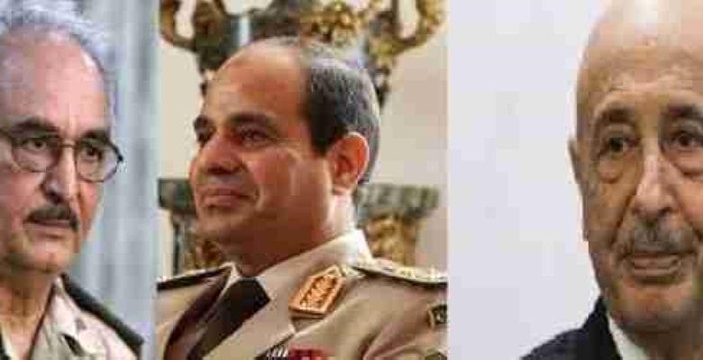 السيسي يلتقي حفتر وعقيلة صالح