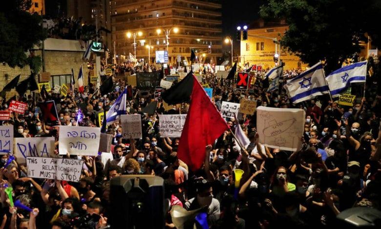 مظاهرات تطالب باستقالة نتنياهو