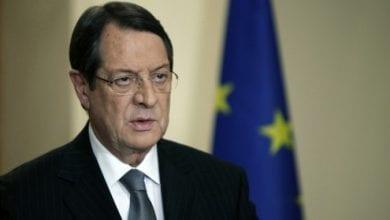 صورة الرئيس القبرصي: نعمل مع الشركاء في الاتحاد الأوروبي لكبح السياسات التوسعية التركية