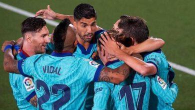صورة برشلونة يحقق فوزاً ساحقاً على مستضيفه فياريال
