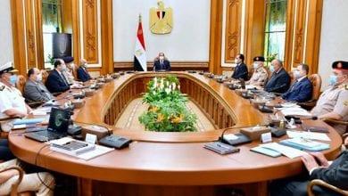 صورة السيسي يجتمع مع مجلس الدفاع الوطني المصري