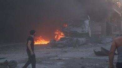 صورة غارة إسرائيلية على مواقع في القنيطرة السورية