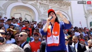 صورة بالفيديو: احتجاجات ضد الغنوشي وحركة النهضة في تونس
