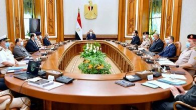 Photo de Al-Sissi rencontre avec le Conseil de la défense nationale