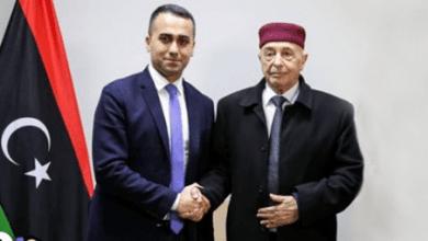 صورة رئيس مجلس النواب الليبي يطلب دعم إيطاليا لحل الأزمة في البلاد