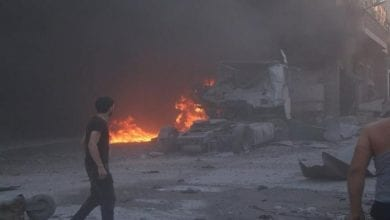 Photo of Israeli occupation helicopters fires missiles at Syria sites
