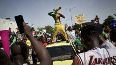Photo de Manifestation du M5 contre le président malien Ibrahim Boubacar Keïta