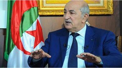 صورة تبون يؤكد على ضرورة الحل السياسي للأزمة الليبية