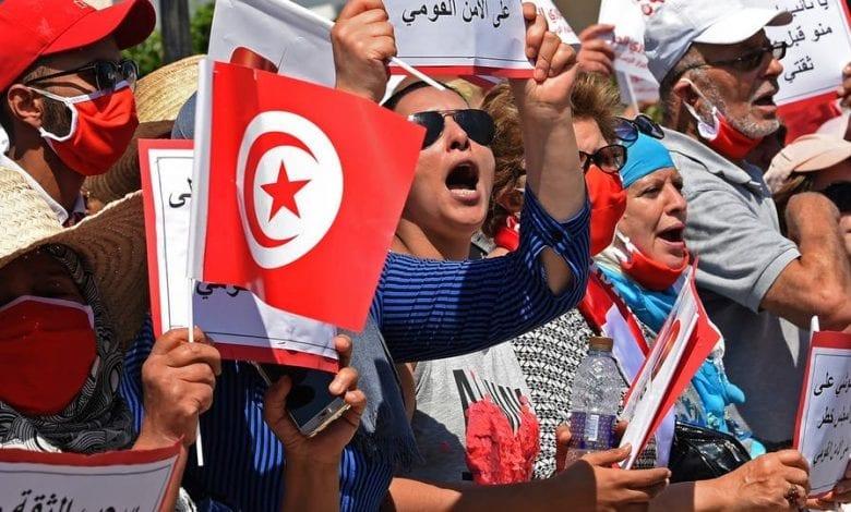 Manifestation devant parlement tunisien contre Ghannouchi\Arab Observer