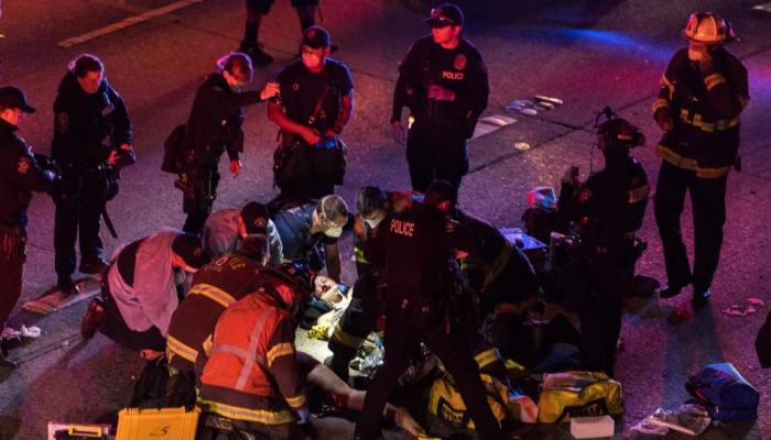 Photo of Police: Seattle protesters struck by car; suspect in custody