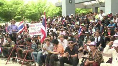 Photo de Des milliers de manifestants thaïlandais dans la rue contre le gouvernement
