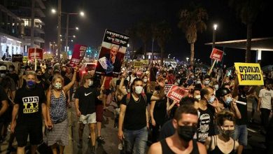 صورة آلاف الإسرائيليين يطالبون باستقالة نتنياهو