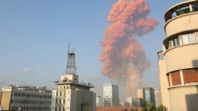 صورة انفجار قوي يهزّ العاصمة اللبنانية بيروت