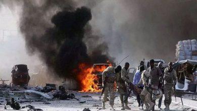 صورة تفجير ارهابي يهزّ قاعدة عسكرية في العاصمة الصومالية مقديشو