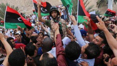 صورة مظاهرات عارمة في طرابلس لإسقاط حكومة السراج
