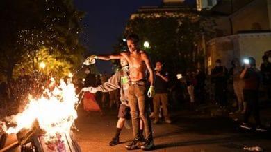 صورة احتجاجات عنيفة في مدينة لافاييت الأمريكية