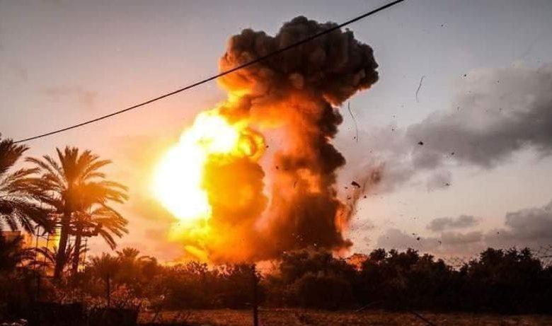 غارات علي غزة