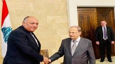 صورة سامح شكري: مصر ستكون دائماً السند للشعب اللبناني