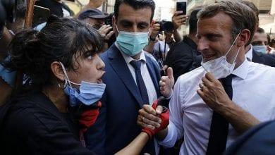 صورة ماكرون: علينا أن نفعل ما أمكن لكي لا يهيمن العنف والفوضى على لبنان