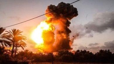 Photo de Israél frappe des positions dans la bande de Gaza