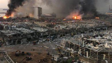 Photo de Solidarité internationale avec le Liban après les explosions