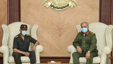 Photo de Le maréchal Khalifa Haftar rencontre le directeur du renseignement militaire égyptien