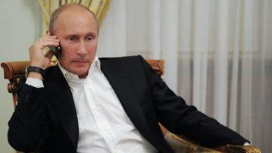 Photo de Poutine et Erdogan entretenus par téléphone sur la situation en Libye et Syrie