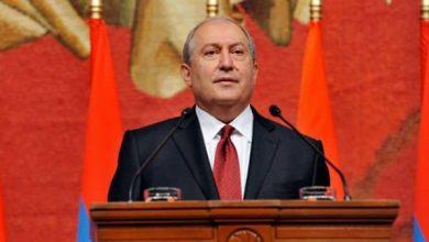 صورة الرئيس الأرميني يتهم النظام التركي بمحاولة تنفيذ عمليات تطهير عرقي ضد الأرمن