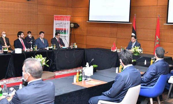 المحادثات الليبية في المغرب