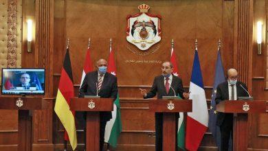 صورة اجتماع لوزراء خارجية 4 دول في الأردن لمناقشة عملية السلام في الشرق الأوسط