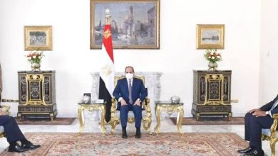 صورة السيسي يؤكد دعم بلاده للجهود الدولية في حل الأزمة الليبية