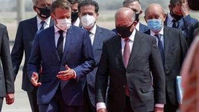 Photo de Emmanuel Macron effectue sa première visite en Irak