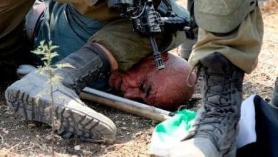 Photo de George Floyd, un Palestinien en Cisjordanie occupée