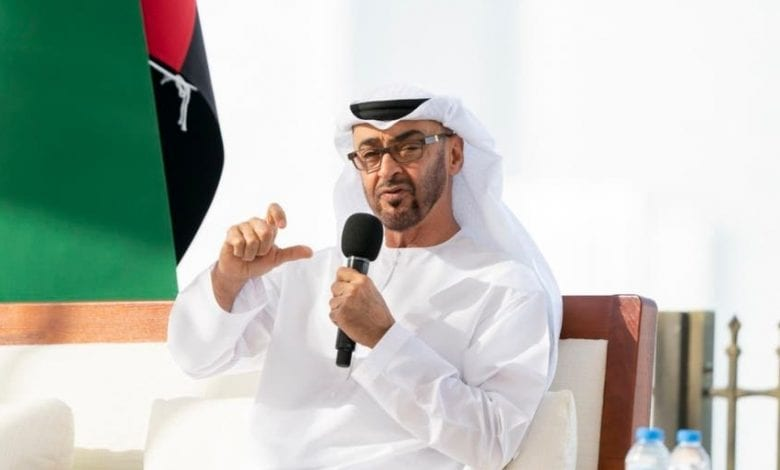 "Photo of UAE Foreign Minister Sheikh Abdullah bin Zayed Al Nahyan:"" We still supporting Palestinian state with its capital in Jerusalem"""