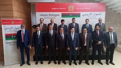 صورة وفدا الحوار الليبي في المغرب يؤكدان الرغبة بحل ينهي الأزمة في البلاد