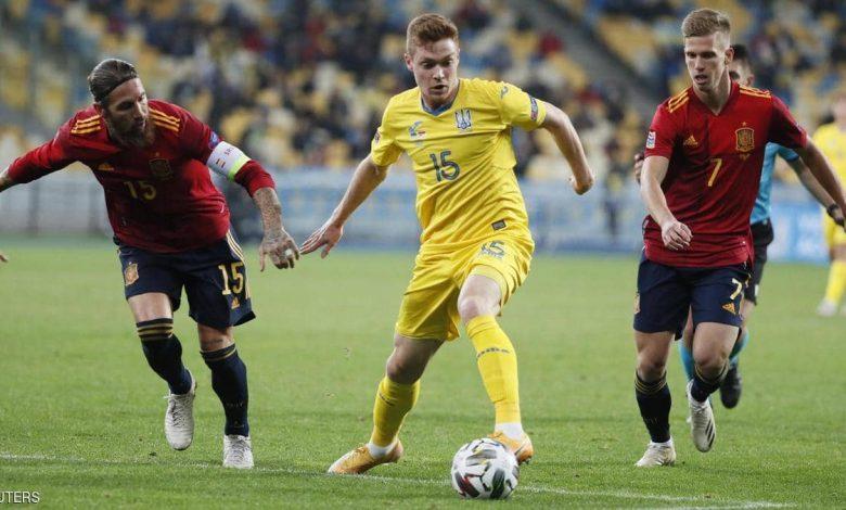 الفوز الأول لأوكرانيا في 8 مواجهات ضدإسبانيا