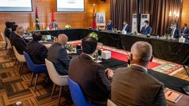 صورة استئناف المباحثات الليبية في المغرب
