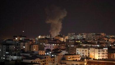 Photo of Israeli occupation warplanes raids sites in Gaza