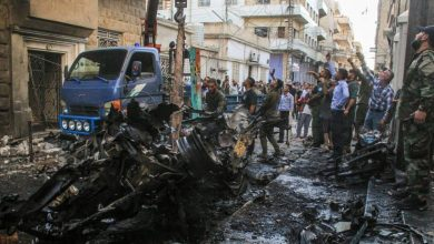 Photo of Truck Bomb explosion in the Turkish-controlled town of Al-Bab in northwest Syria, at least 18 people killed